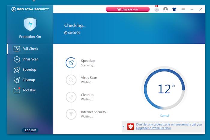 360 Total Security Antivirus full check