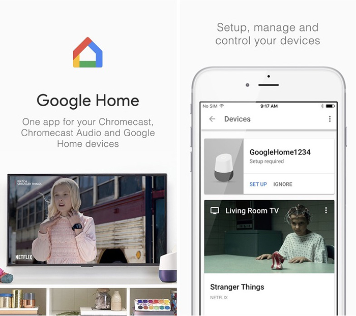 Google Chromecast Ultra Google Home App