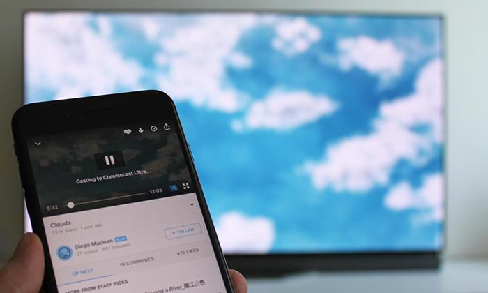 Google Chromecast Ultra Interface