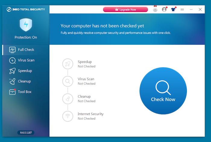 360 Total Security Antivirus dashboard