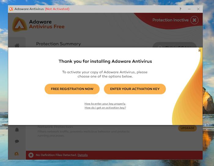 Adaware Antivirus Free activation