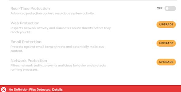 Adaware Antivirus Free dashboard
