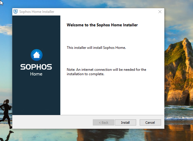 Sophos Home Antivirus Install