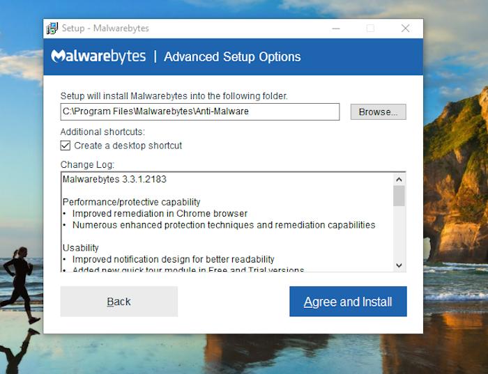 Malwarebytes Free Antivirus install