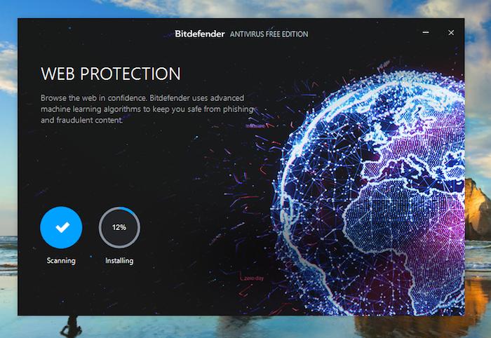 Bitdefender Free Antivirus Installation Scan