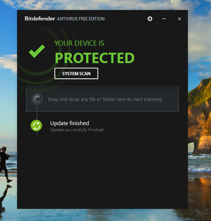 Bitdefender home screen
