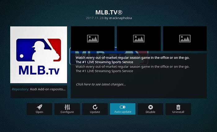 MLBTV Kodi Addon