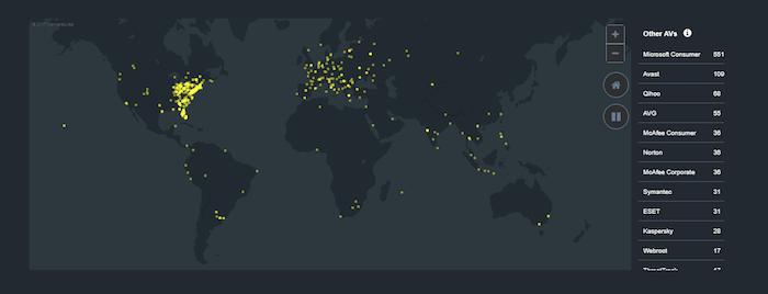 Malwarebytes Free Antivirus map