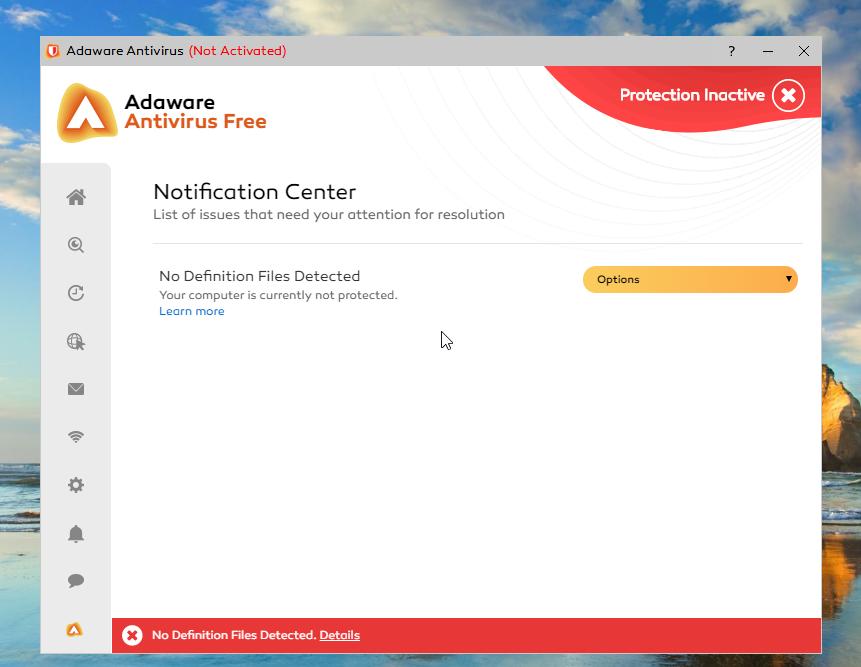 Adaware Antivirus Free Notification Centre