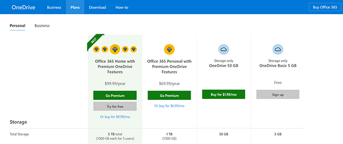 OneDrive Pricing