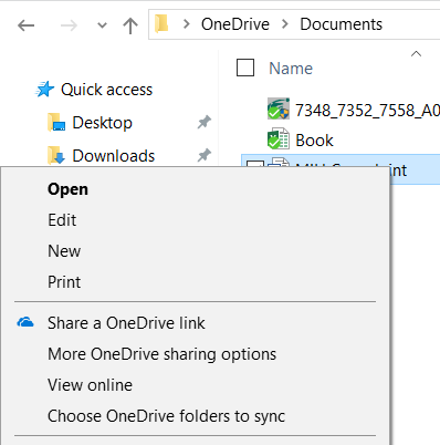 OneDrive Syncing