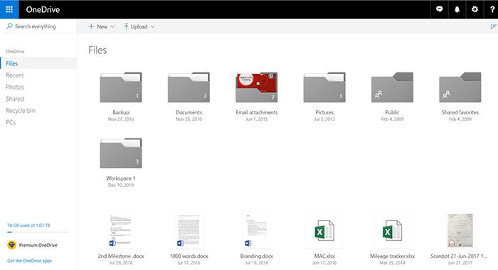 OneDrive on Web