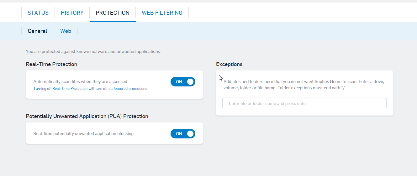 Sophos Web Interface Protection
