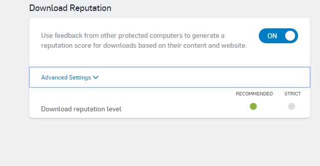 Sophos Download Reputation