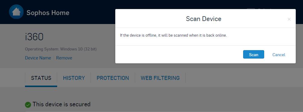 Sophos Antivirus Scan