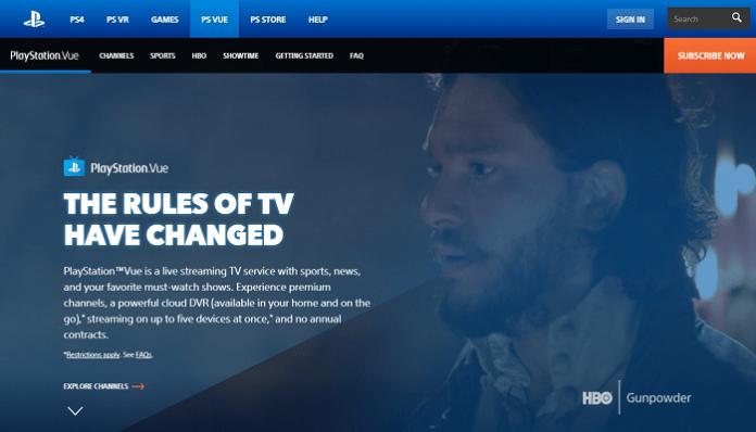 PlayStation Vue Website
