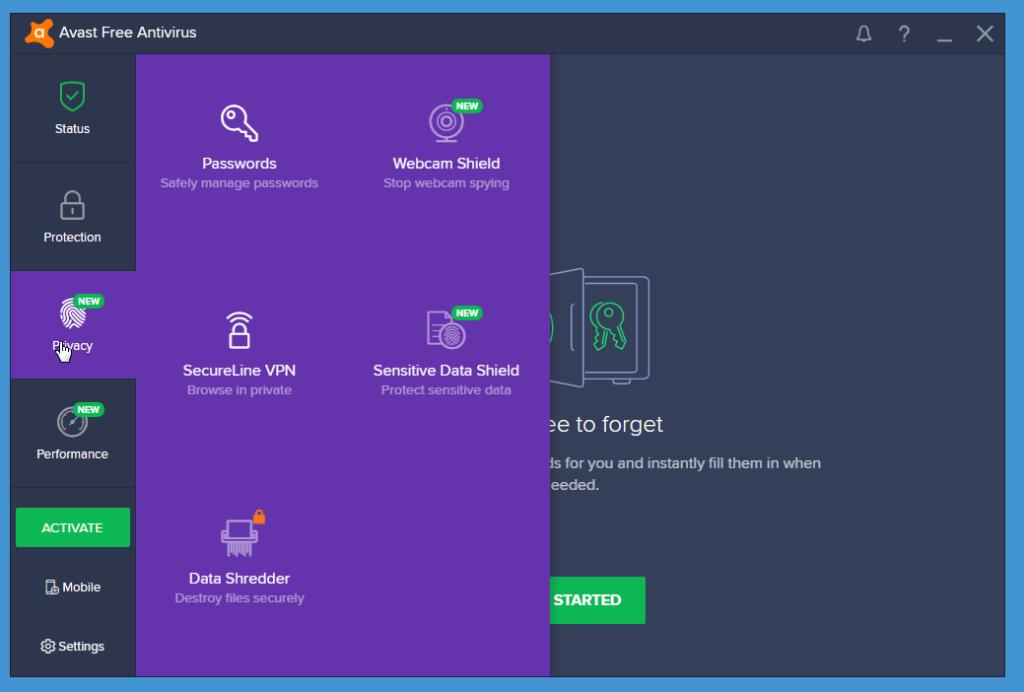 Avast Free Antivirus additional features