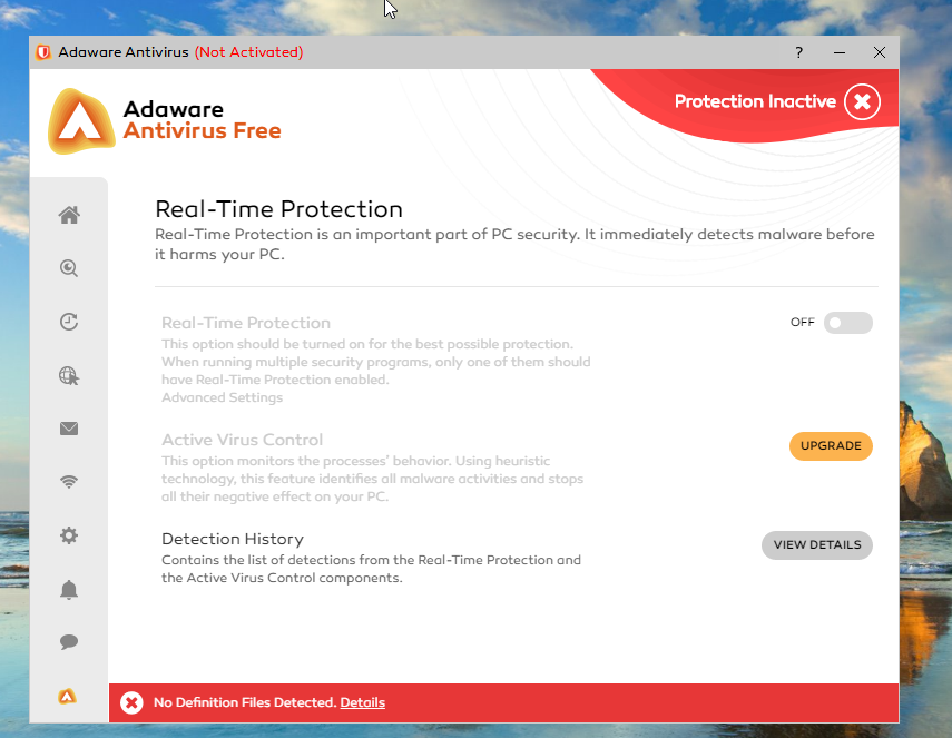 Adaware Antivirus Free real-time protection