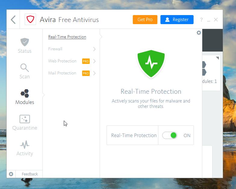 Avira Free Antivirus Realtime