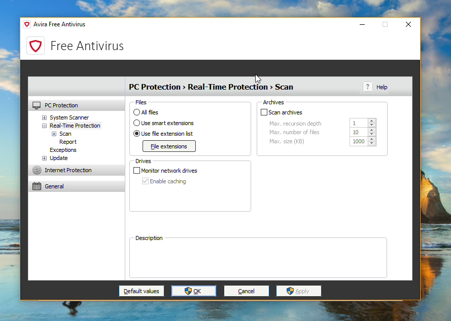 Avira Free Antivirus Activity