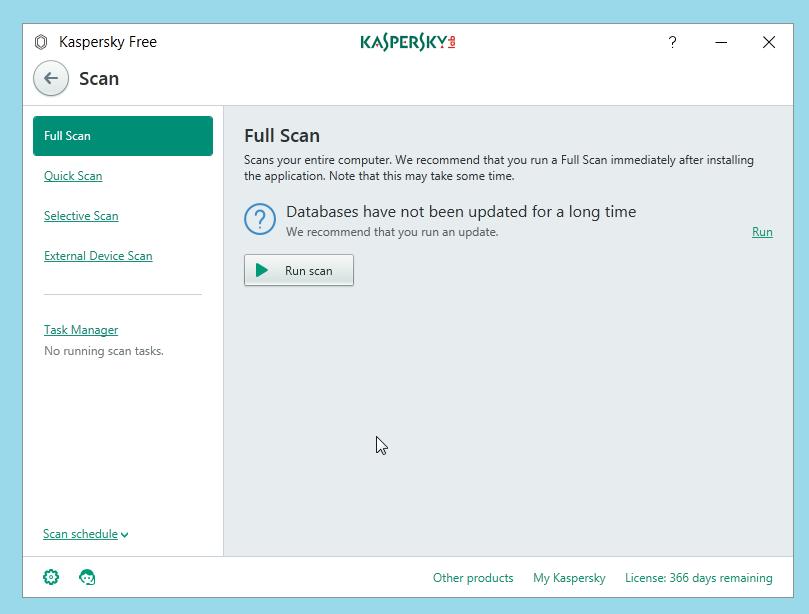 Kaspersky Free Antivirus Scan