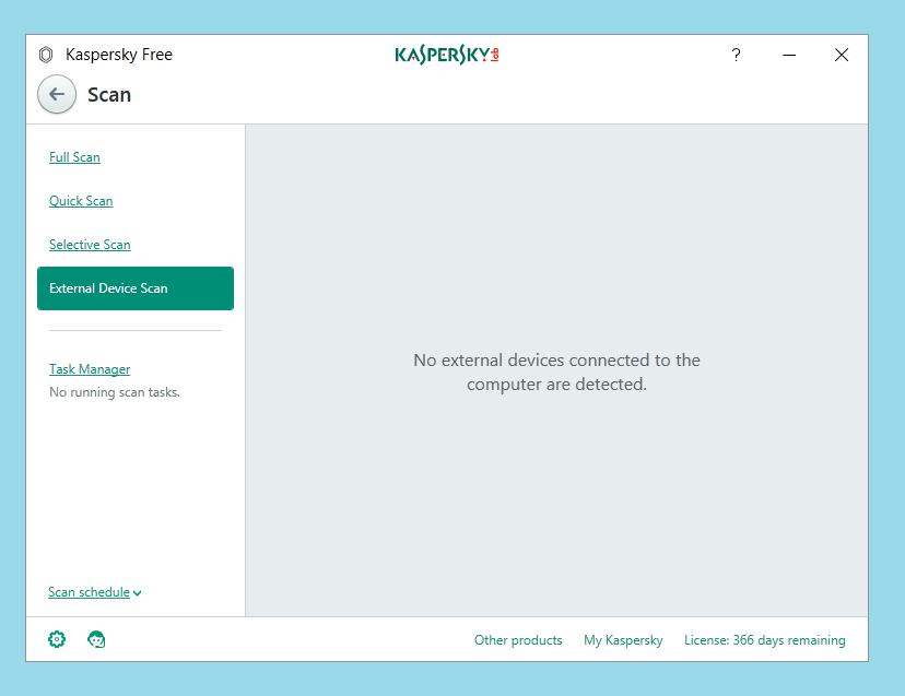 Kaspersky Free Antivirus Device Scan