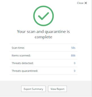 Malwarebytes Free Antivirus scan