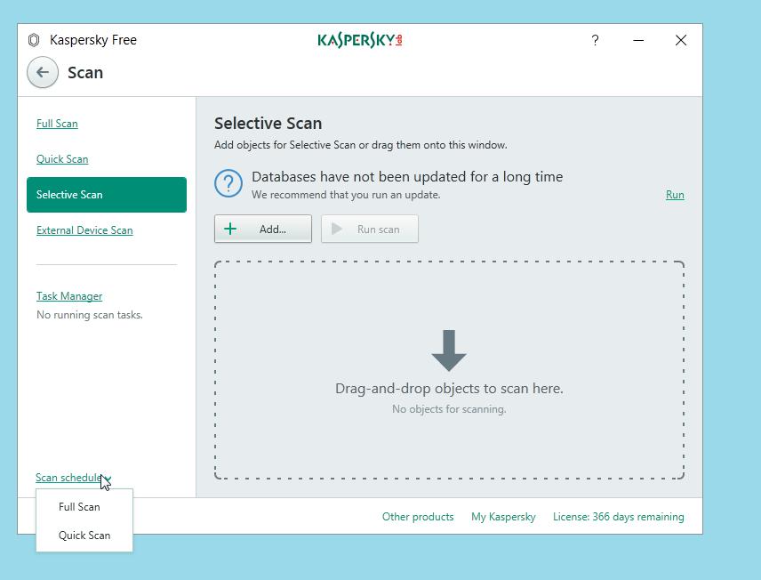 Kaspersky Free Antivirus Schedule Scan