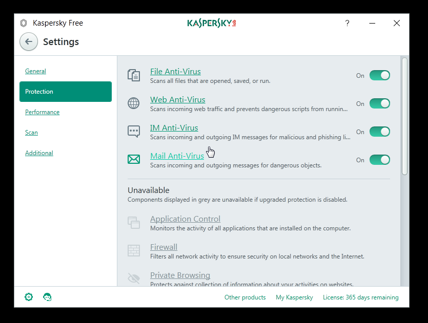 Kaspersky Free Antivirus Protection