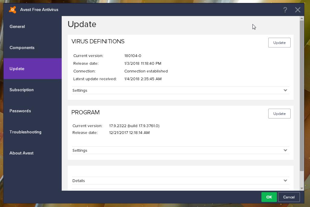 Avast Free Antivirus update