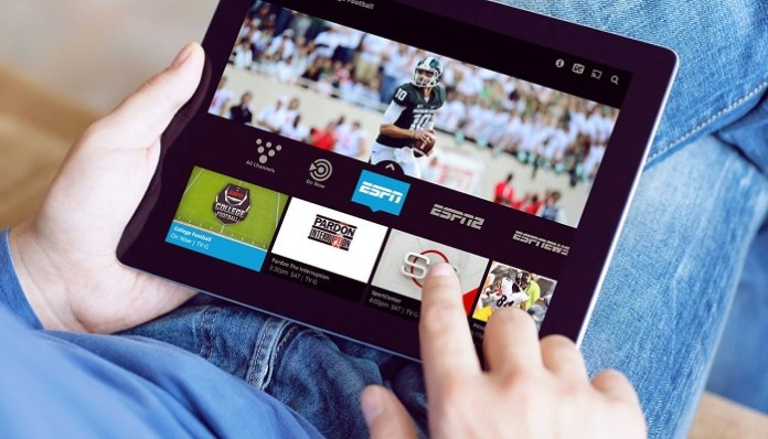 Sling TV on Tablet