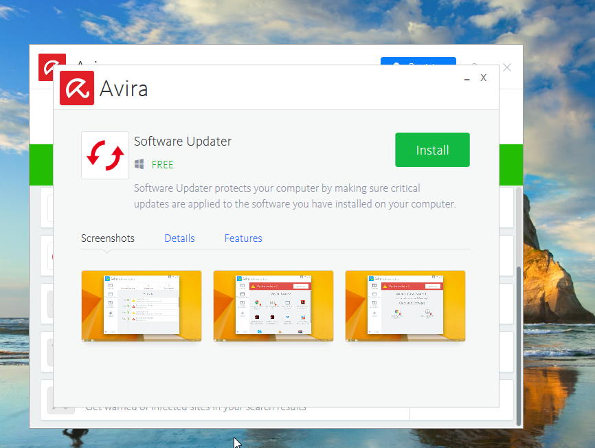 Avira Free Antivirus Software Updater