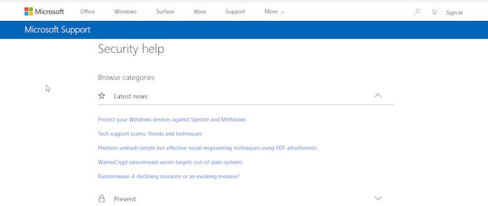 Windows Defender Support