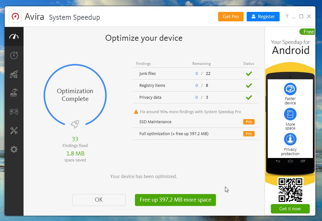 Avira Free Antivirus Speedup