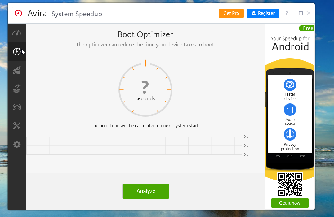 Avira Free Antivirus Boot Optimizer