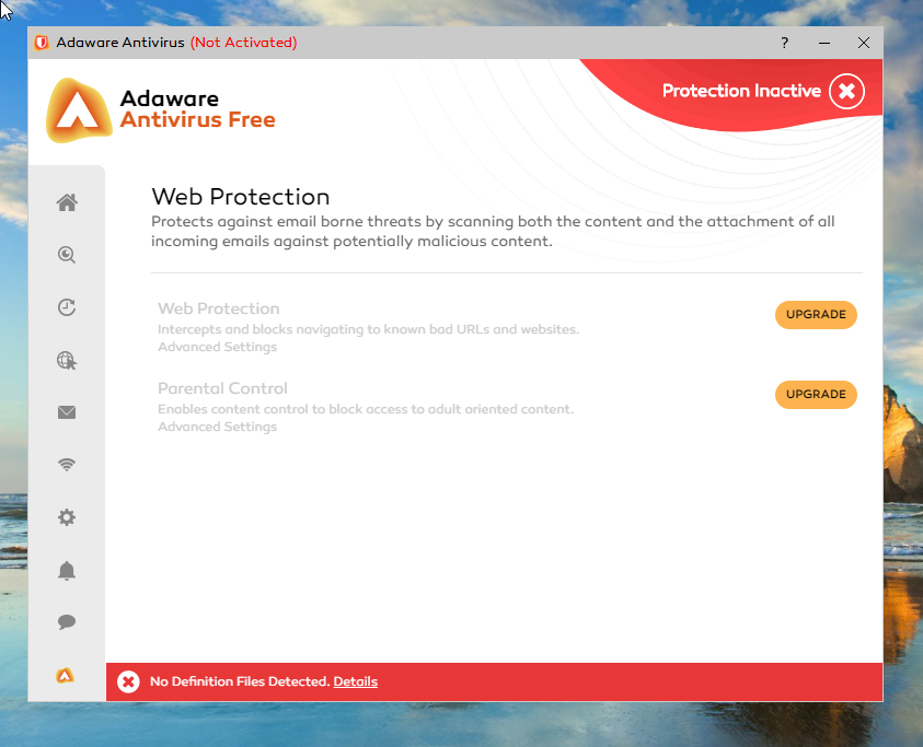 Adaware Antivirus Free web protection
