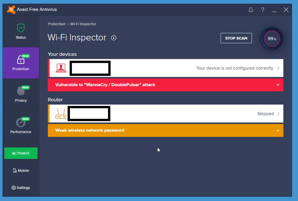 Avast Free Antivirus WiFi Inspector