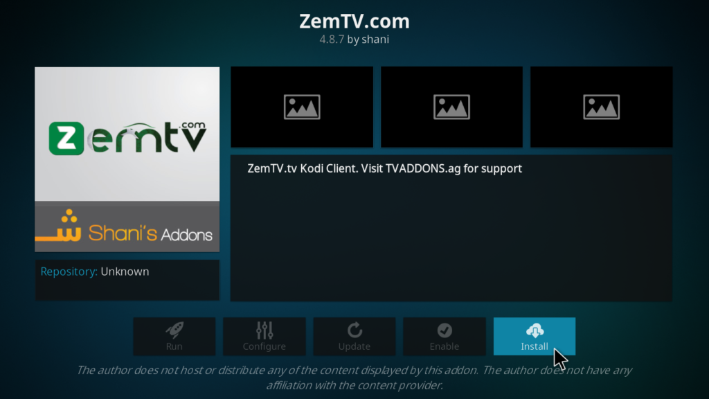 Zem TV Kodi Addon - Install