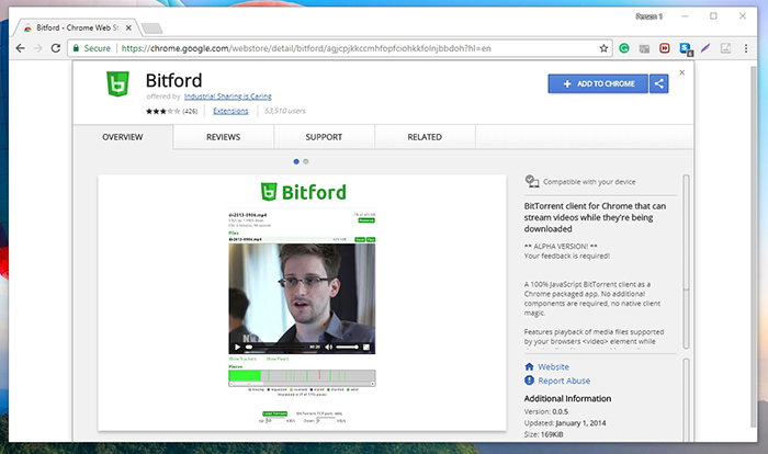 BitFord Chrome Web Store