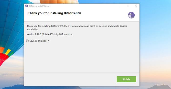 BitTorrent Installation Final Step