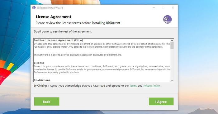 BitTorrent License Agreement