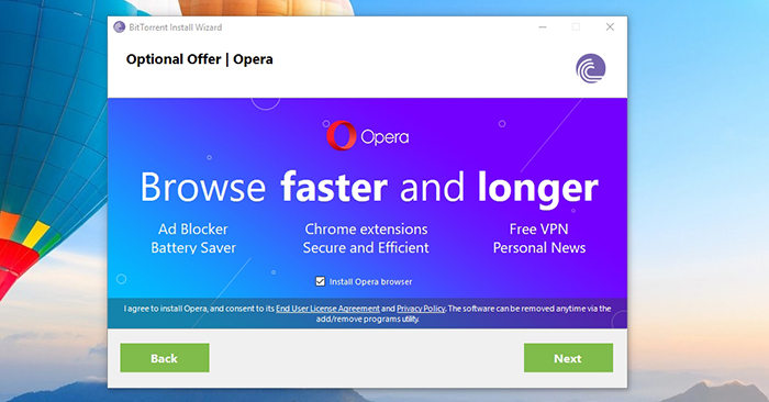BitTorrent Opera Browser Offer