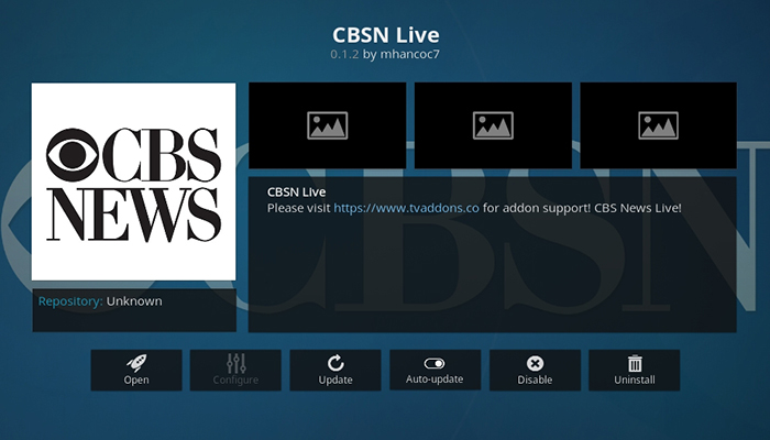 CBSN Live Kodi Addon