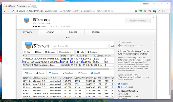 JSTorrent Chrome Web Store
