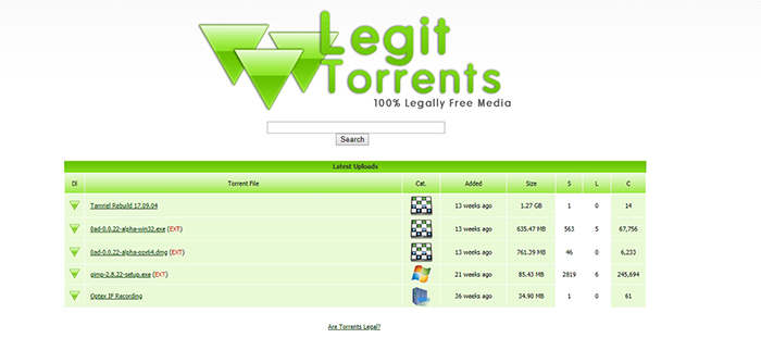 Legit Torrents