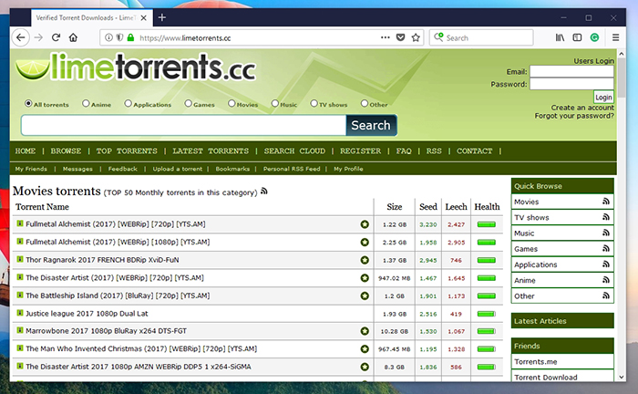 best torrent sites 2017 november