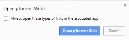 Open uTorrent Web