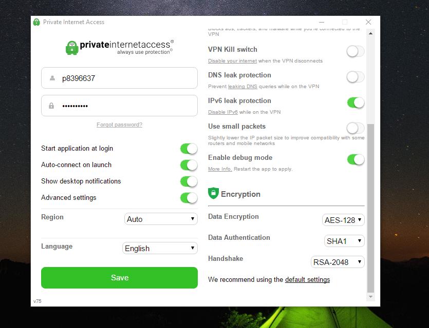 Private Internet Access VPN Advanced Settings2
