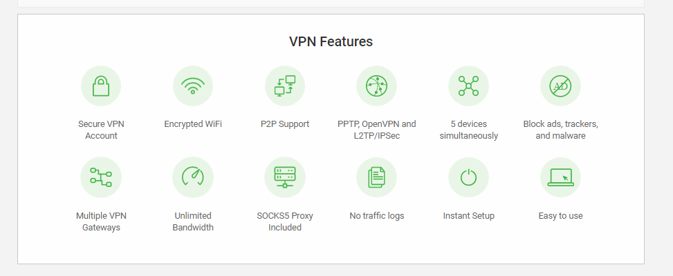 Private Internet Access VPN Features2