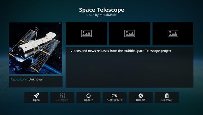 Space Telescope Kodi Addon